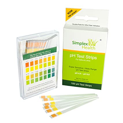 Simplex Salud Ph Test Bandas para Orina y Saliva (100 strips)
