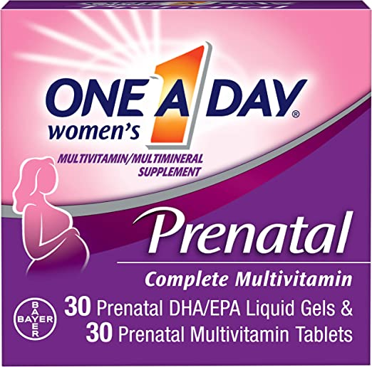 One A Day Women's Prenatal Vitamins, 30+30 Count by One-A-