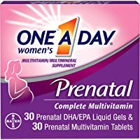 ONE A DAY Women's Prenatal Multivitamin Two Pill Formula, Supplement for Before, During, and Post Pregnancy