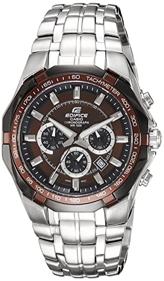 cbbea9acc841 Buy Casio Edifice Tachymeter Chronograph Brown Dial Men s Watch - EF-540D-5AVDF  (ED372) Online at Low Prices in India - Amazon.in