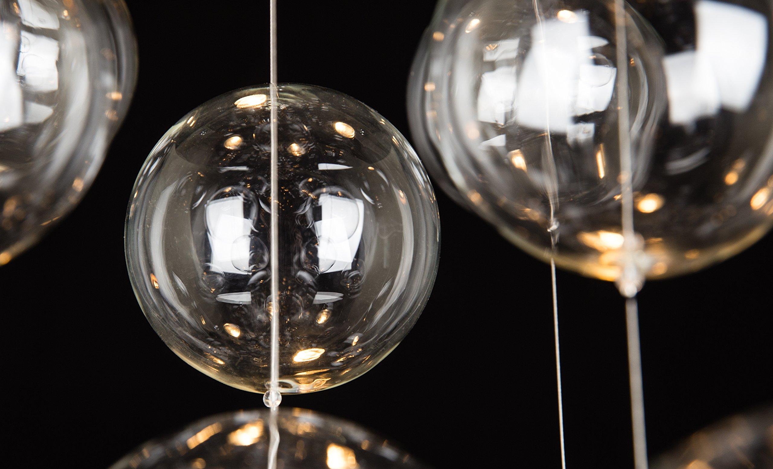 Saint Mossi Modern Glass Raindrop Chandelier Lighting Flush mount LED Ceiling Light Fixture Pendant Lamp for Dining Room Bathroom Bedroom Livingroom 4 GU10 Bulbs Required H31'' X D20''