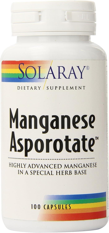 Solaray Manganese Asporotate, Capsule (Btl-Plastic) 30mg | 100ct: Health & Personal Care