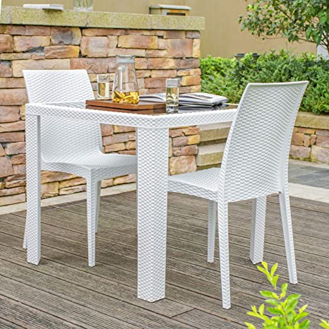 Remarkable Amazon Com Rimdoc Outdoor Patio Dining Chairs 2 Piece Ocoug Best Dining Table And Chair Ideas Images Ocougorg