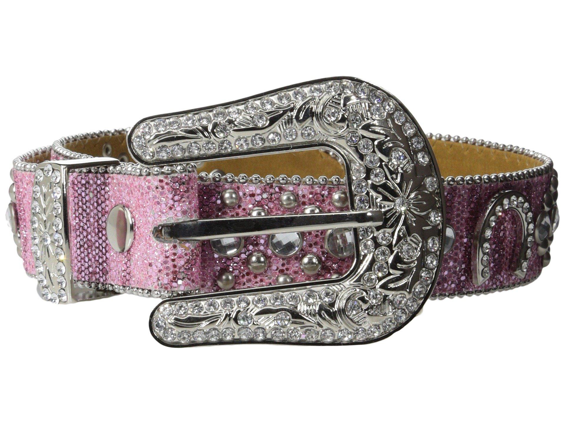 M&F Western Girls' Horseshoe Belt (Little Big Kids), Pink, 18