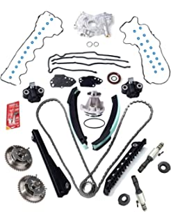 3-Valve Timing Chain Kit Cam Phaser   VVT Valves Water Pump Timing Cover  Gaskets 5ae554cca6552