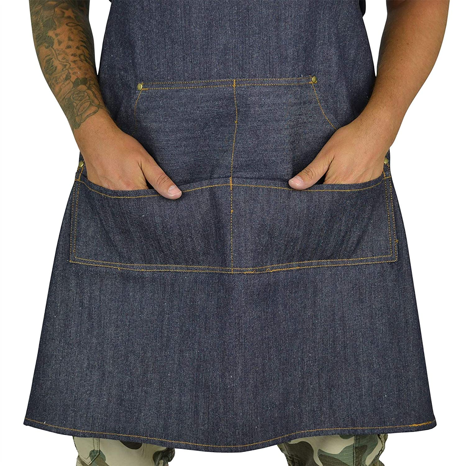 Bang Tidy Clothing Denim BBQ Apron /& Meat Shredding Claws Accessories Gift Set Burger Me Up