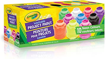 Crayola Washable Neon Paint, School, Craft, Painting and Art Supplies, Kids, Ages 3,4, 5, 6 and Up, Back to school,...
