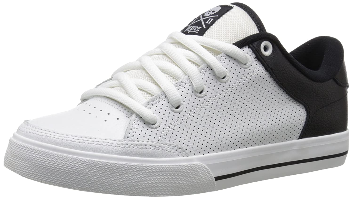 C1RCA Men's AL50 SE Skate Shoe 8 D(M) US|White/Black