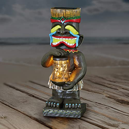 Exhart Laughing Island Totem Garden Imitation Wood Resin