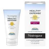 Neutrogena Healthy Defense Daily Moisturizer with SPF 50 and Vitamin E, Lightweight Face Lotion with SPF 50 Sunscreen and Antioxidants, Vitamin C & Vitamin E, 1.7 fl. oz