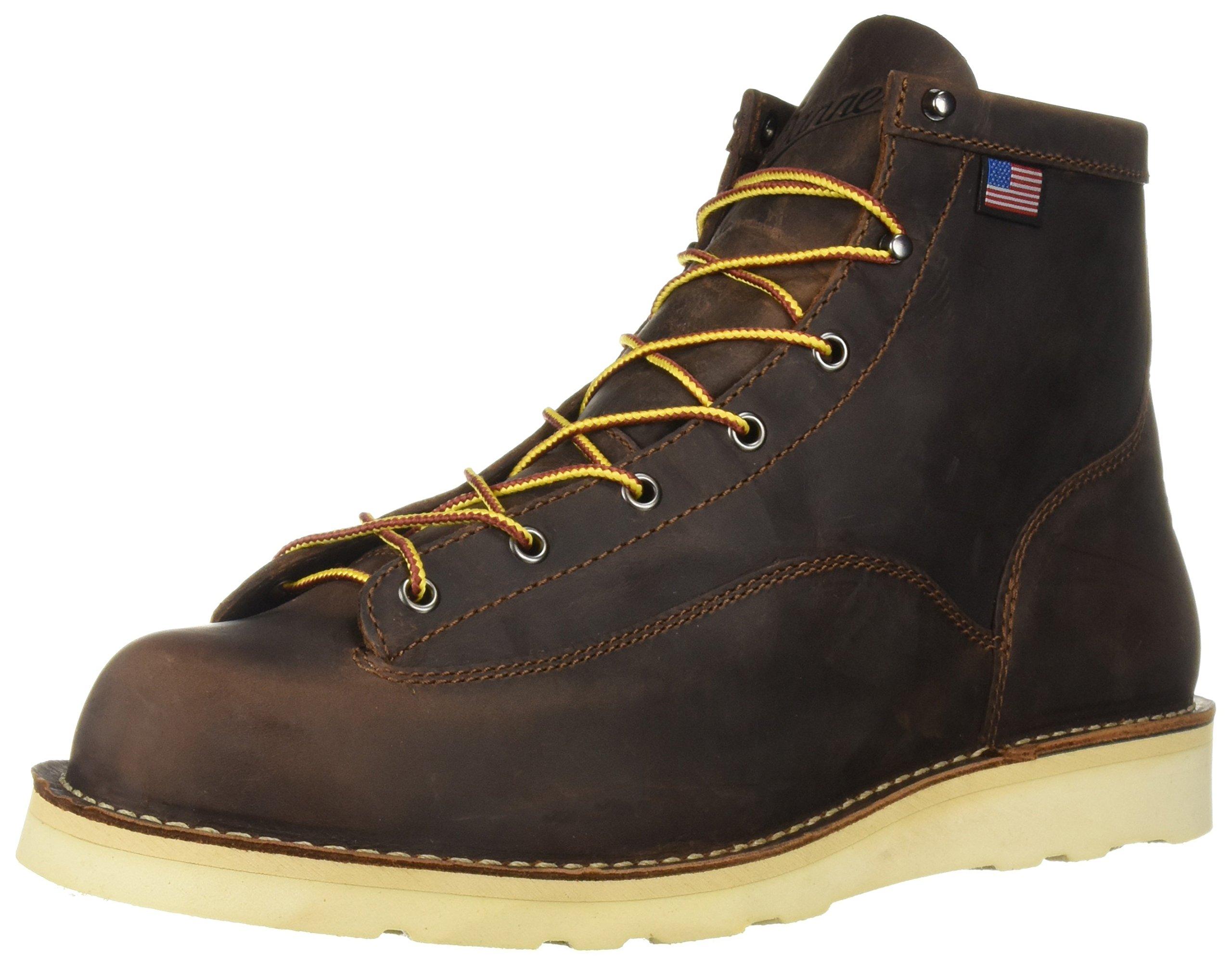 Danner Men's Bull Run 6-Inch BR Cristy Work Boot,Brown,14 EE US