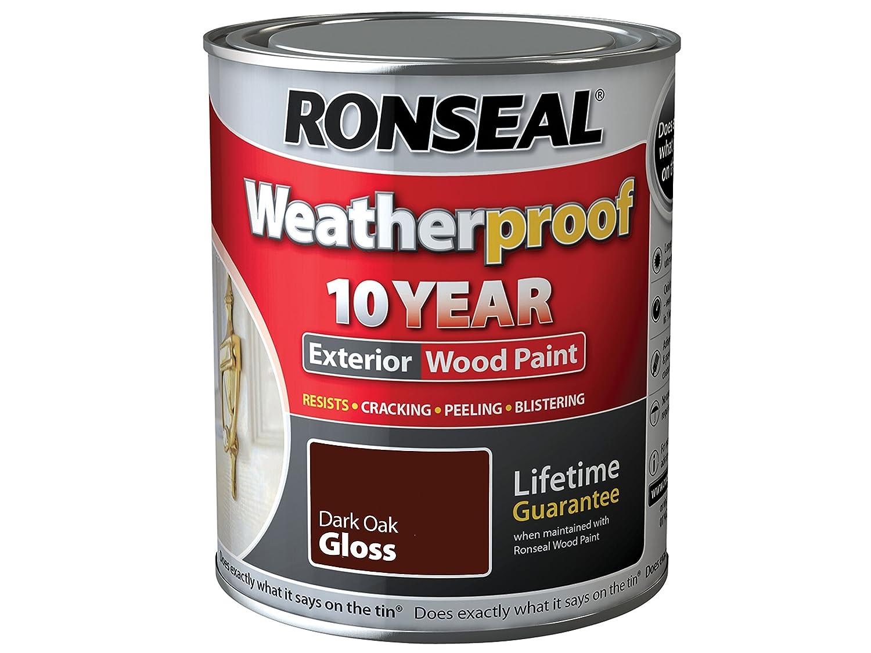 Nice Ronseal RSLWPDOG750 750 Ml Weatherproof Exterior Wood Paint   Dark