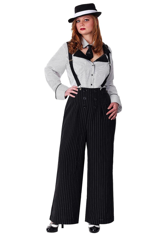 minorista de fitness Plus Size Size Size Pinstripe Gangster Fancy Dress Costume 3X  calidad oficial