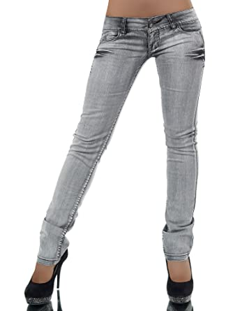 detail fleurs poches BOUTIK gris avec aux FASHION jeans arriere jean wXpxqqF