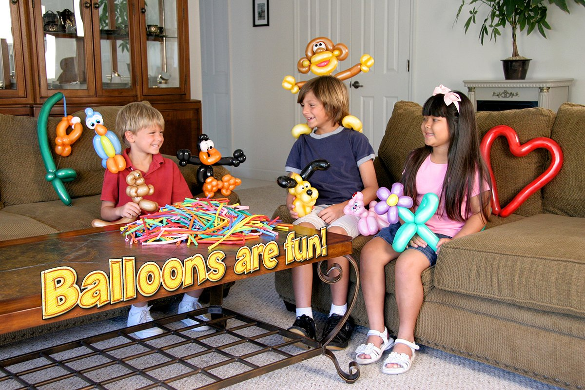 Balloon Animal University PRO Kit with 100 balloons, Now With NEW Sculptures! How-To Videos, Qualatex Balloons, Pump, Instruction Book. Learn to Make Balloon Animals Fun Party Activity Holiday Gift by Imagination Overdrive (Image #7)