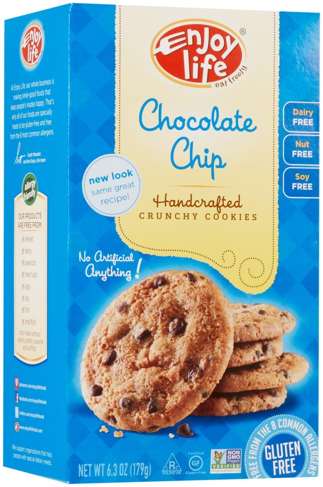ENJOY LIFE Chocolate Chip Cookie, 6.3 OZ