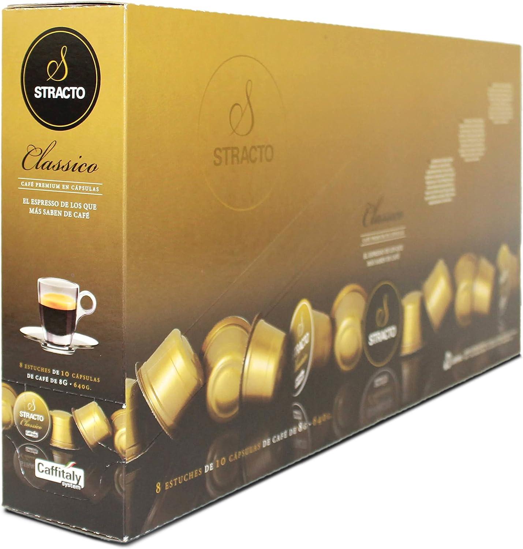 Stracto - Cápsulas de Café - Tray Box Classico - Estuche 80 Unidades: Amazon.es: Alimentación y bebidas