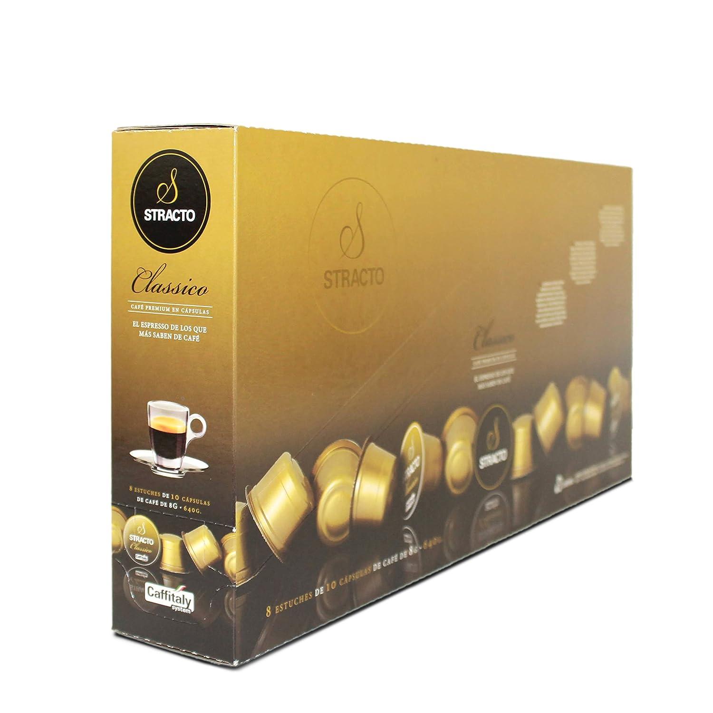 Stracto - Cápsulas de Café - Tray Box Classico - Estuche 80 Unidades