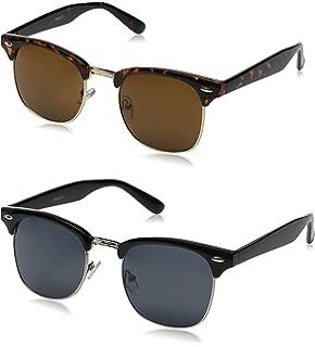 ac78d27d49 Amazon.com  zeroUV - Half Frame Semi Rimless Sunglasses for Men ...