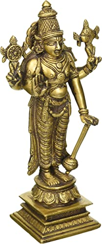 Lord Vishnu – The Sustainer of Universe – Brass Sculpture