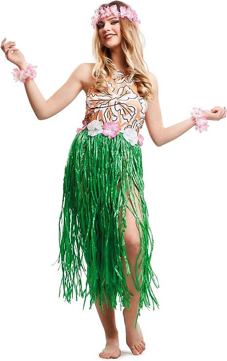 VIVING - Disfraz hawaiana chicm/l: Amazon.es: Juguetes y juegos