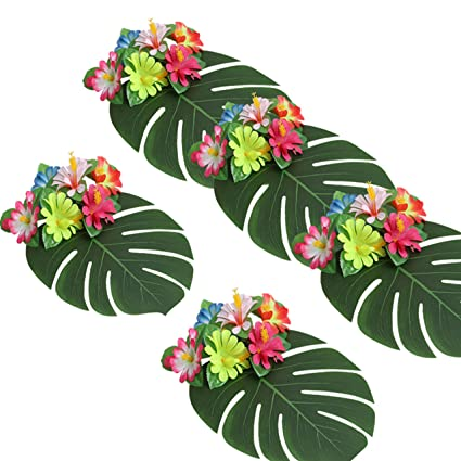 Amazon Com Hawaiian Luau Theme Party Decorations Pieces Tropical
