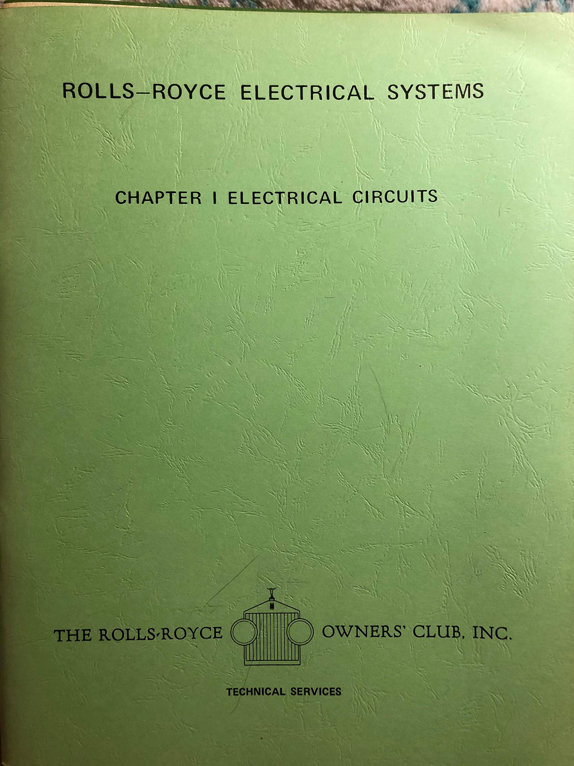 rolls-royce electrical systems chapter i electrical circuits paperback –  1969