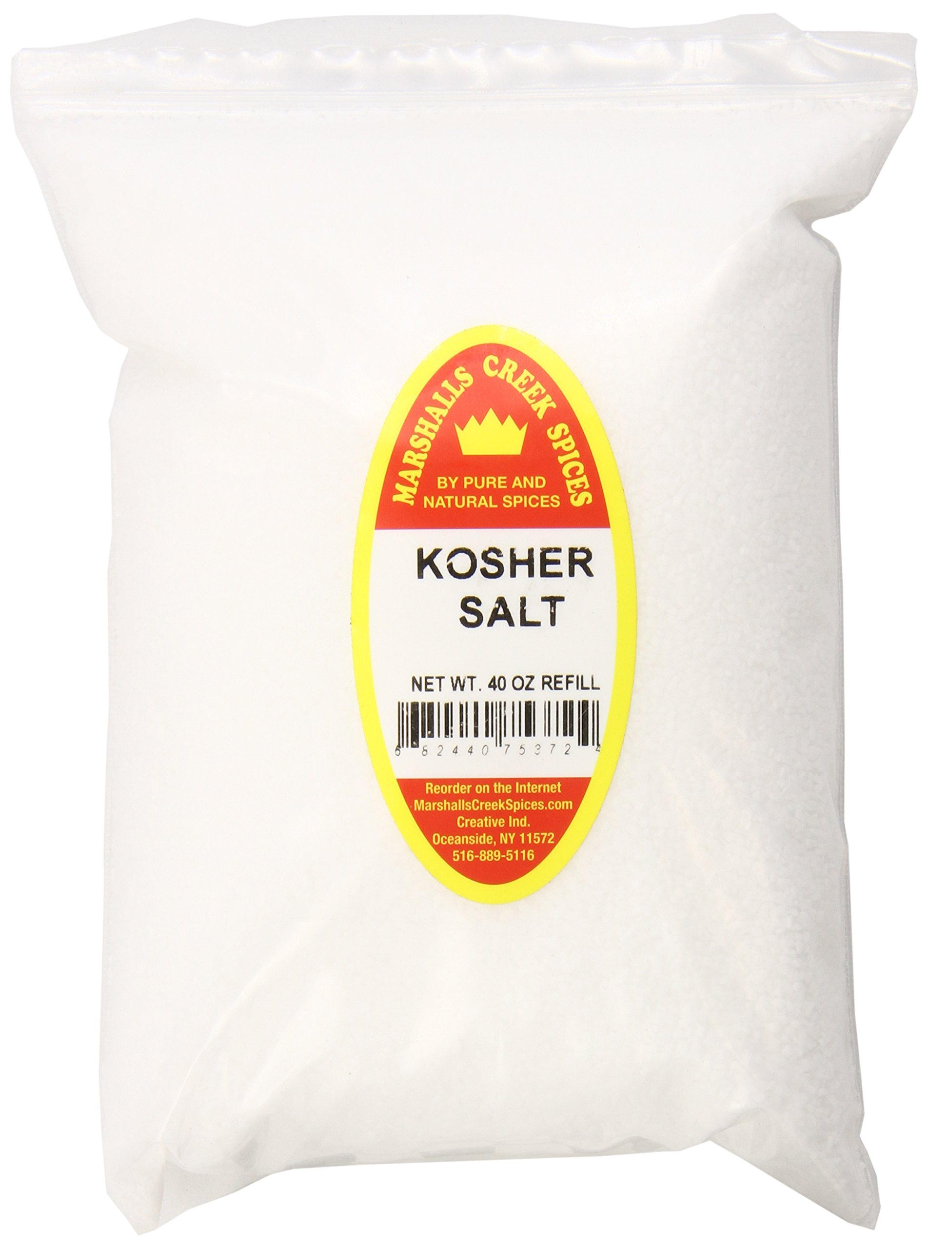 Marshalls Creek Spices X-Large Refill Kosher Salt, 40 Ounce