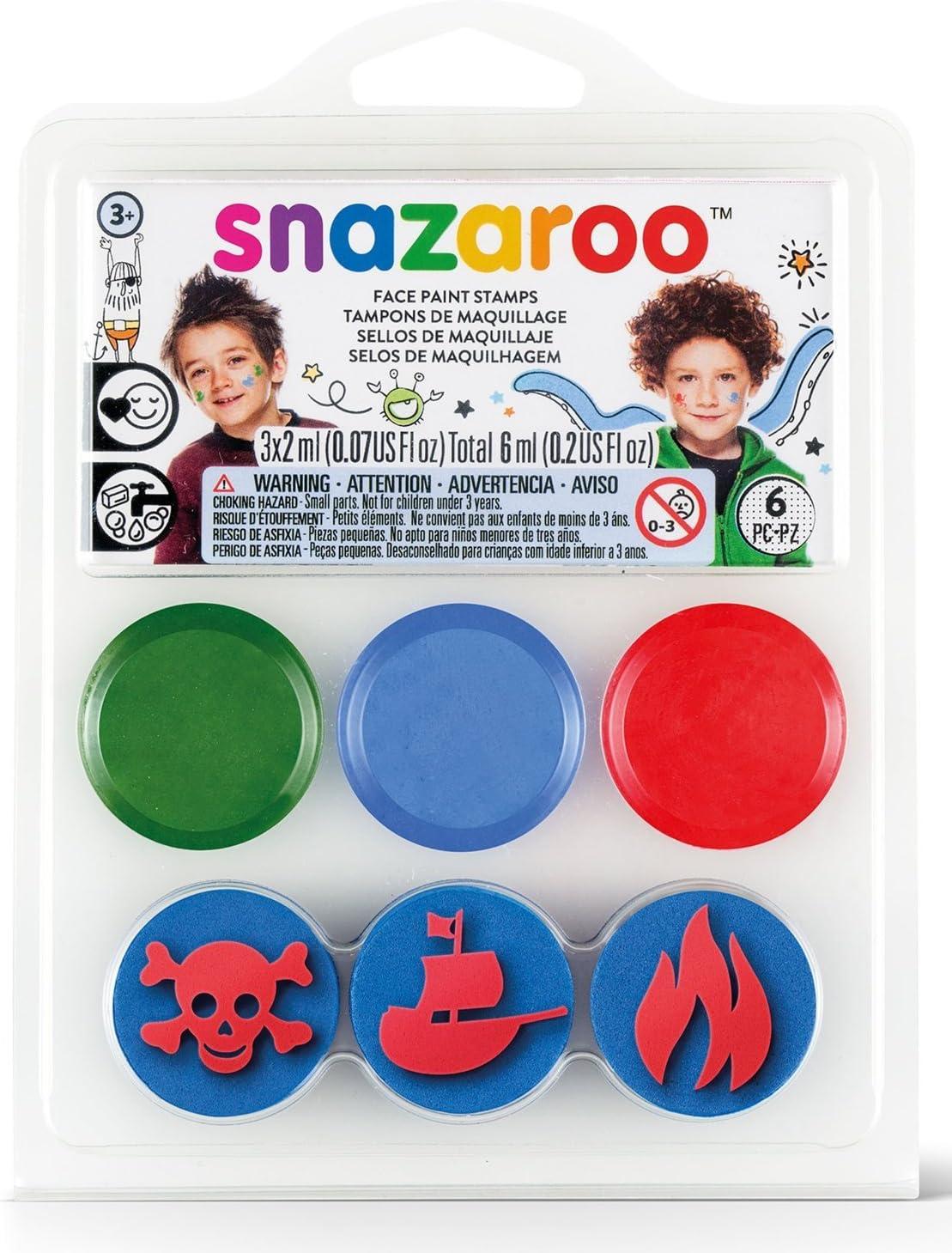 Mini kit maquillaje y sellos piratas y océano Snazaroo - Única: Amazon.es: Belleza