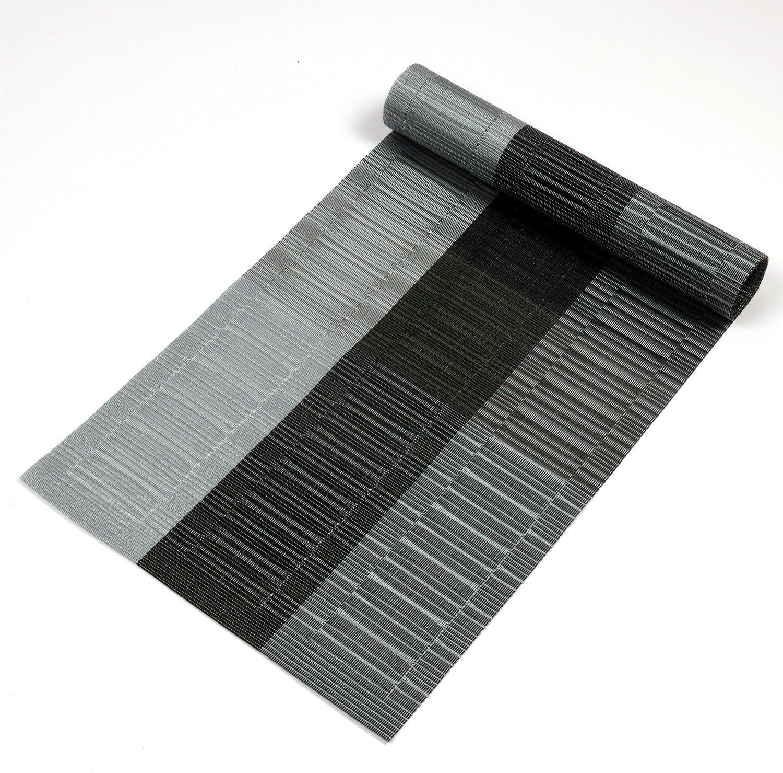 Double Silver Grey Black Neve Noelene Kelly Ensemble couvre-lit ouat/é de luxe ultra doux 3/pi/èces Motif damass/é Argent/é//noir 220cm X 240cm Polyester
