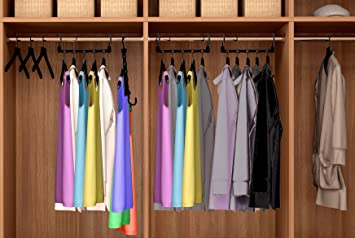 Captivating Magic Hangers As Seen On Tv Save Closet Space Clothes Organizer Purse Set  Of 10