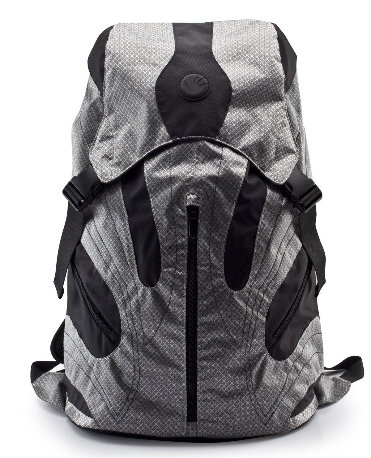 Slappa Kampus 18-Inch Backpack for Laptop Silver/Black (SL-BP-KAM1801) [並行輸入品] B078BPSCB8