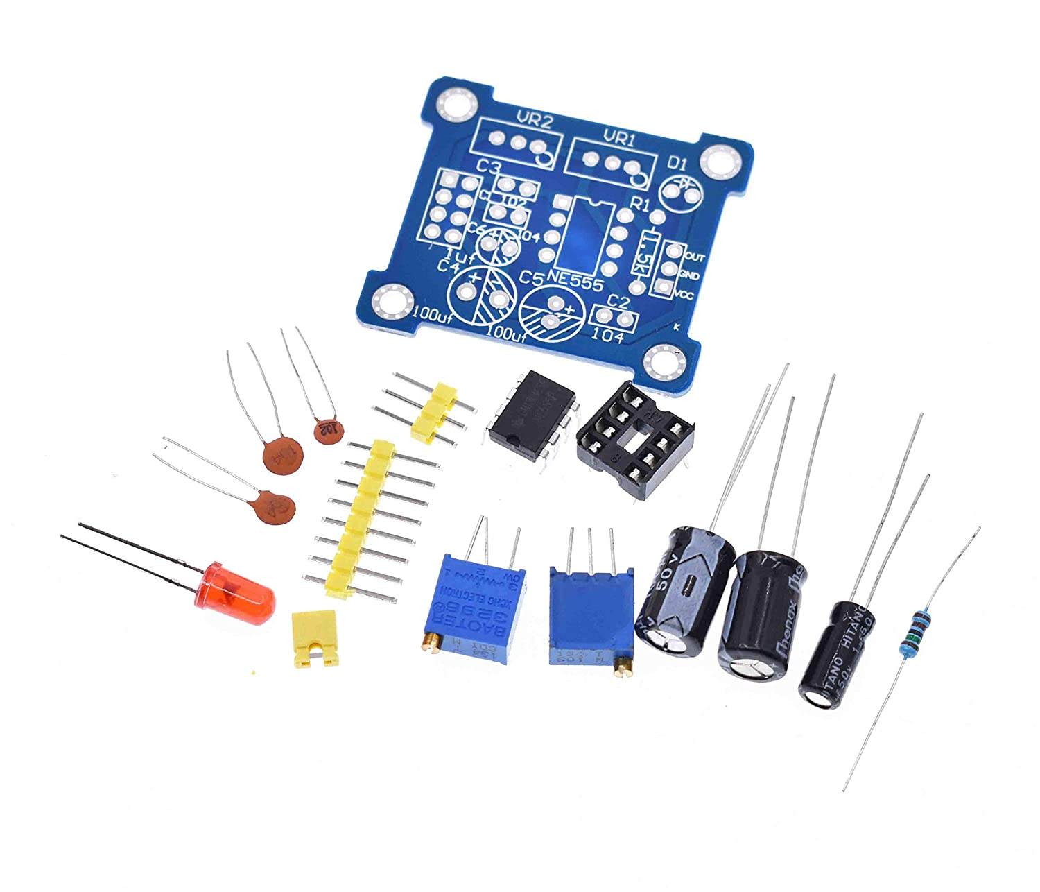 Active Components Ne555 Pulse Generator Square Wave Rectangular Wave Frequency Duty Cycle Adjustable Small Signal Generator 555 Module Board Integrated Circuits