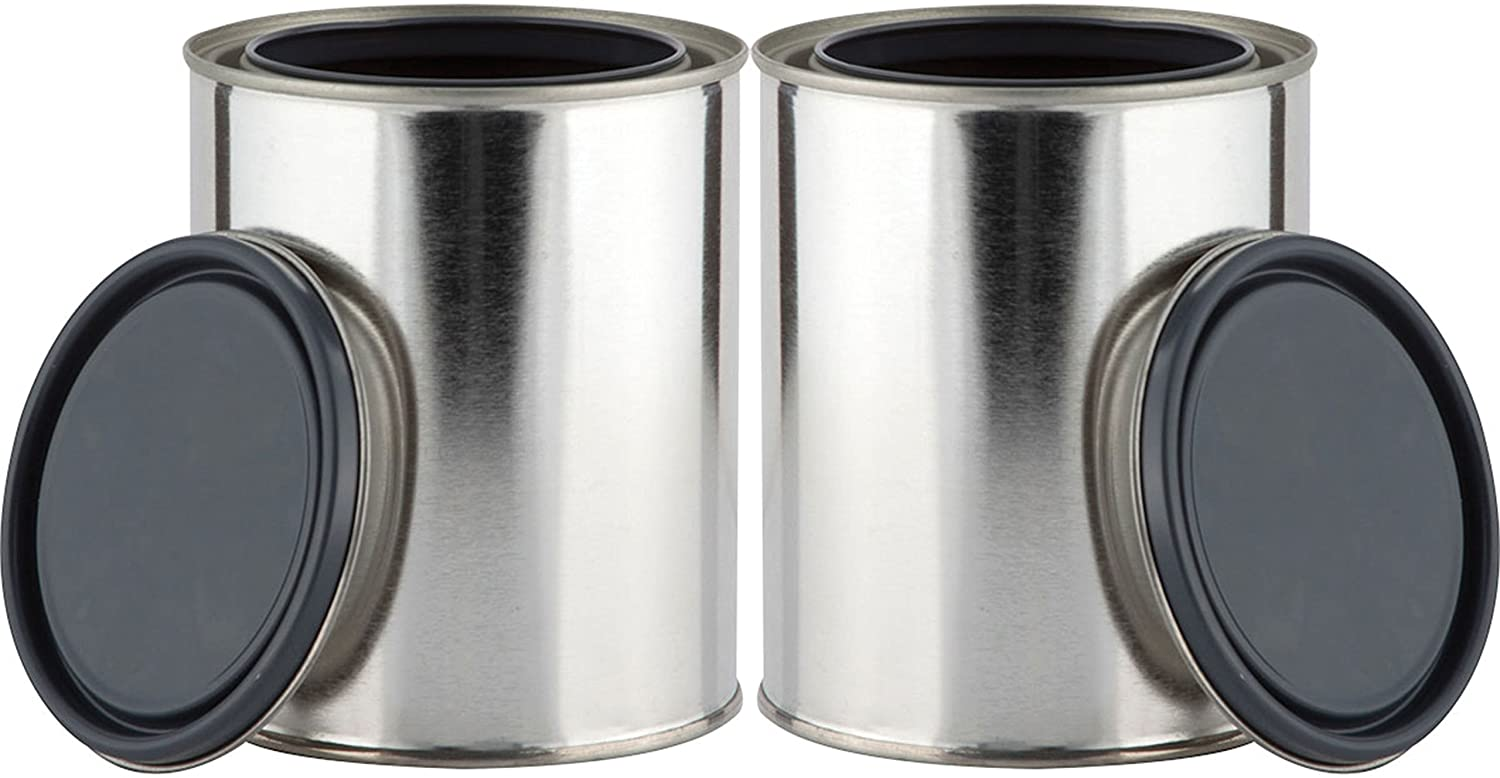 Metal Paint Can Containers - empty paint cans to use as storage.