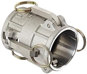 "Dixon 200-DD-AL Aluminum Cam and Groove Hose Fitting, Spool Coupler, 2"" Socket"