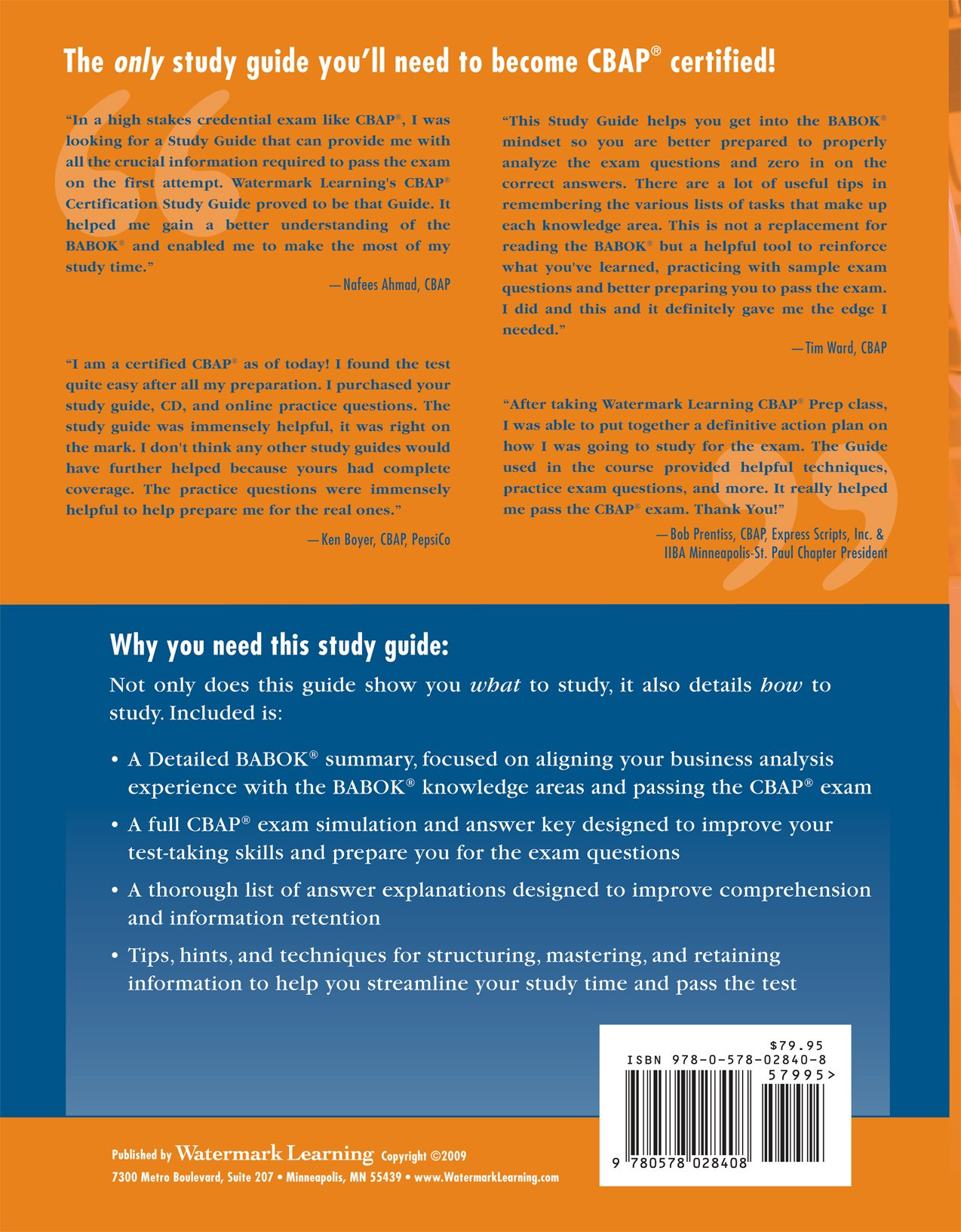 Amazon Buy Cbap Certification Study Guide 2nd Edition Book