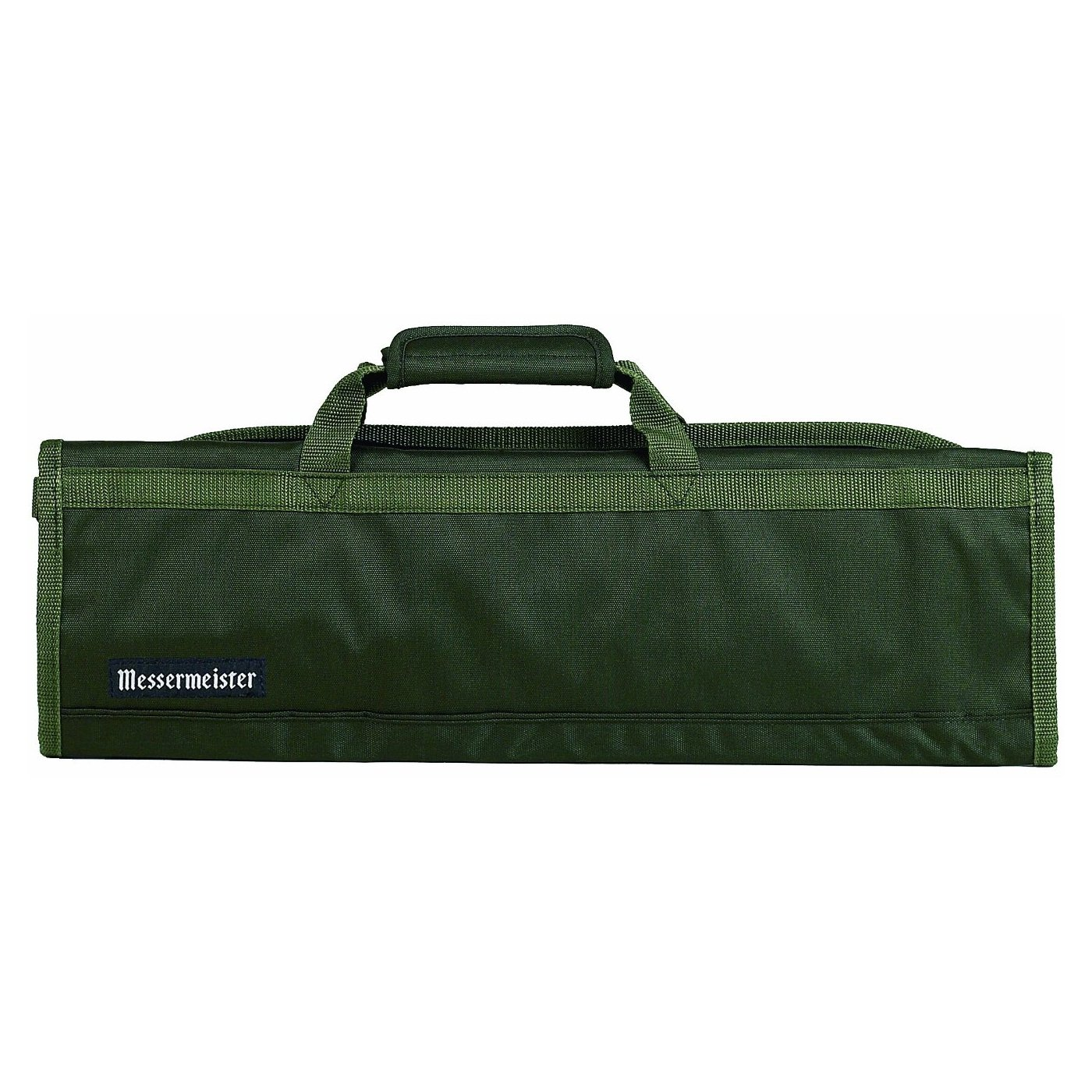 Messermeister 8-Pocket Padded Knife Roll, Olive