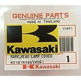 Marca Nuevo 100% ORIGINAL KAWASAKI K Marco Pegatina amarillo / Negro 42mm x