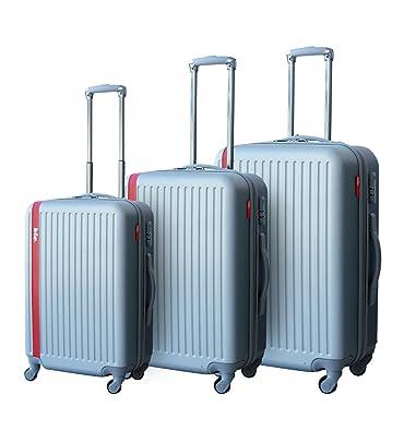 Lee cooper - val3abslinesilver - Ensemble de 3 valises à roulettes gris line UPmC6Sy7x5