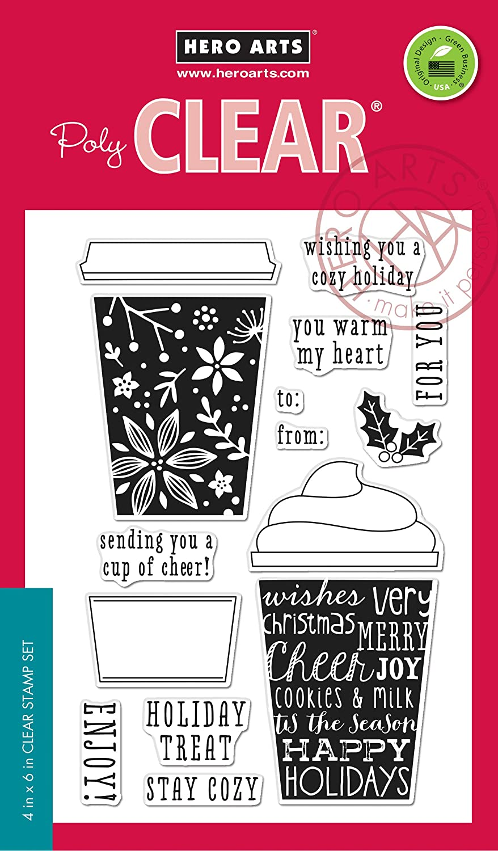 Hero Arts CL986 Coffee Cup tag card kit