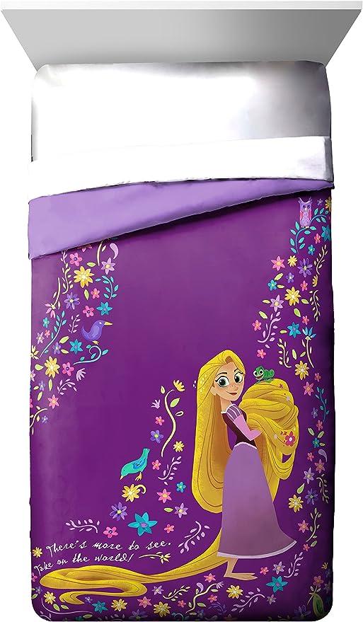 Disney Rapunzel Rocks Tangled Princess Purple Twin Blanket NEW