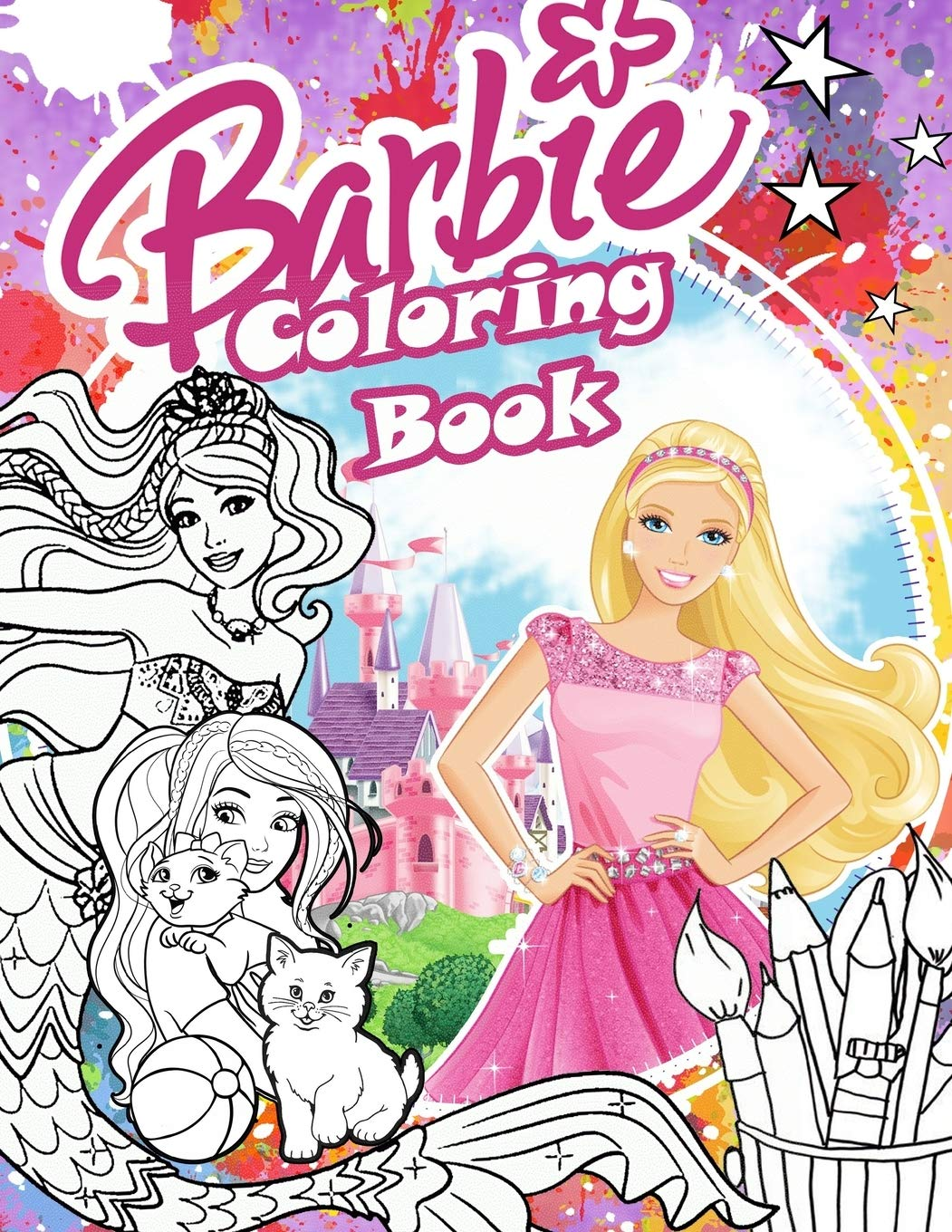 - Barbie Coloring Book: Barbie Coloring Book For Girls 4-8 With