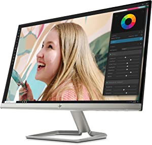 HP 27-Inch FHD Monitor with Built-in Audio (27fwa, White)