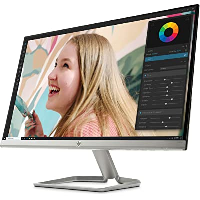 "HP 27fwa - Monitor Full HD de 27"" (1920 x 1080, panel IPS LED, 16:9, HDMI 1.4, 5 ms, 60 Hz, AMD FreeSync, Altavoces incorporados), Color Blanco"
