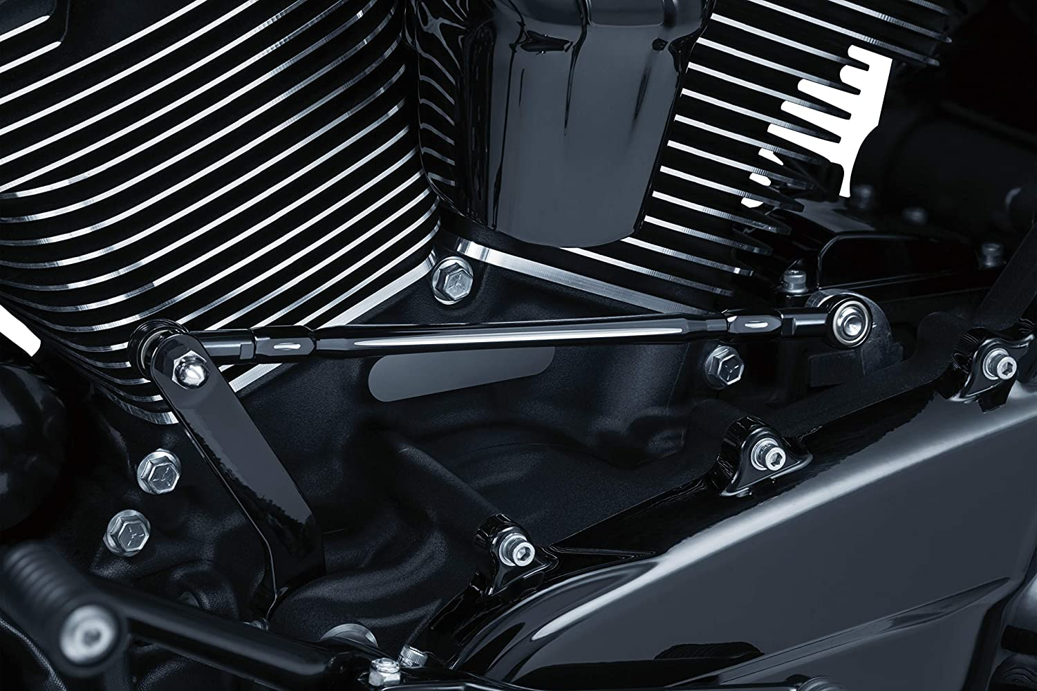 Kuryakyn 9678 Motorcycle Component Gloss Black Carved Shift Linkage for 1980-2019 Harley-Davidson Motorcycles