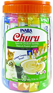 INABA Churu Lickable Purée Natural Cat Treats