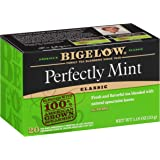 Bigelow Perfectly Mint (Formerly Plantation Mint) Tea Bags 20 count (Pack of 6), 120 Tea Bags Total (Packaging may vary, tea