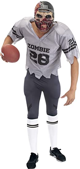 Football Player Halloween Costume.Sponch Football Player Zombie Adult Halloween Costume Medium Grey Amazon In Clothing Accessories