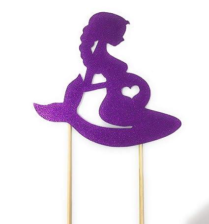 Decoración para tarta con diseño de sirena embarazada para ...