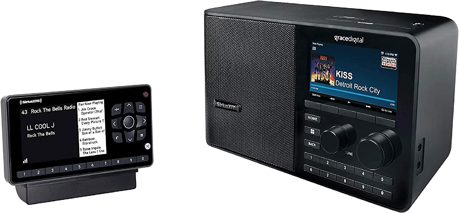 SiriusXM All Access Bundle Includes Onyx EZR Vehicle Dock and Play (SXEZR1V1) and SiriusXM Wi-Fi Table Radio (GDISXTTR2)